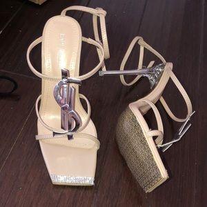 Sparkly money heels